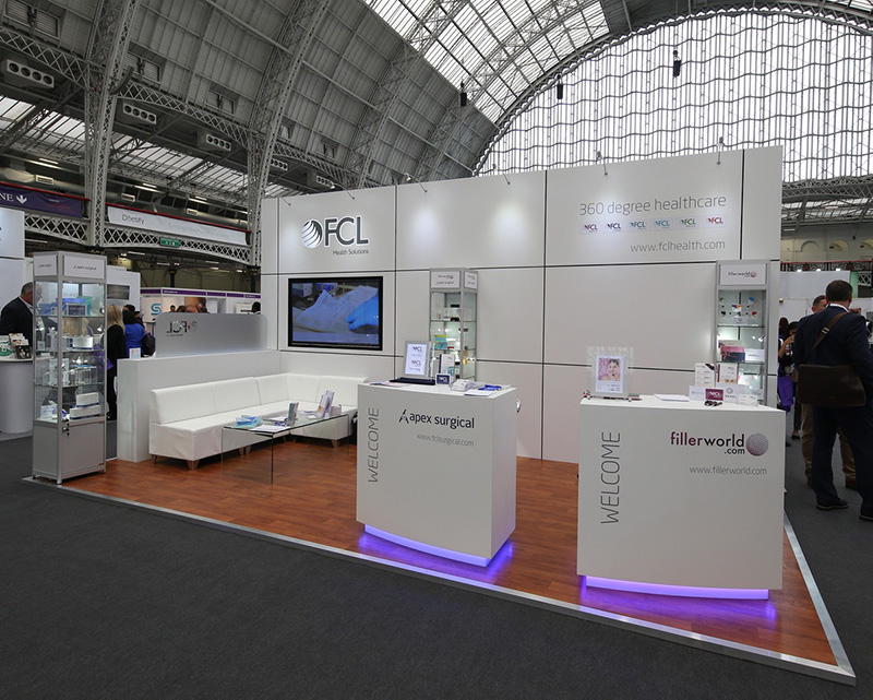 FCL exhibition Stand at the 2018 CCR expo for clinical, cosmetic and reconstructive technologies